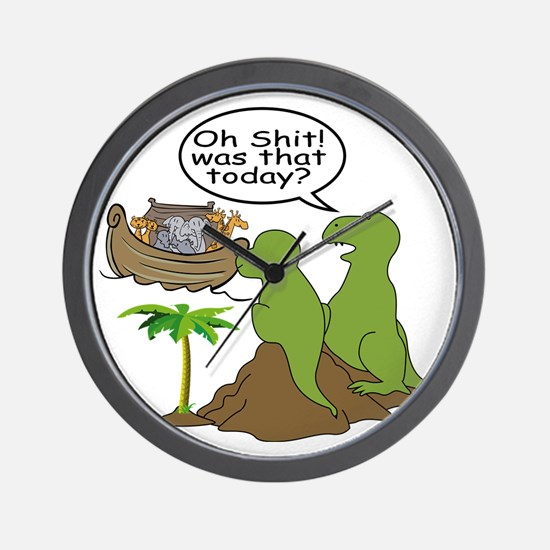 Noah and T-Rex, Funny Wall Clock