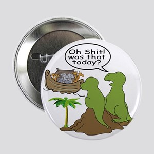 """Noah and T-Rex, Funny 2.25"""" Button"""