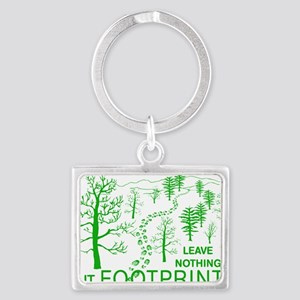 Leave Nothing but Footprints Gr Landscape Keychain