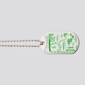 Leave Nothing but Footprints Green Dog Tags