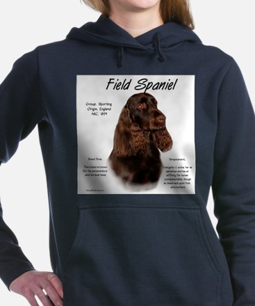 Field Spaniel Women's Hooded Sweatshirt