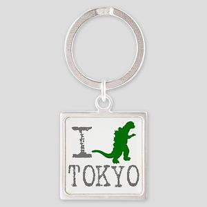 I Godzilla TOKYO (original) Square Keychain