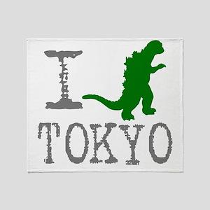 I Godzilla TOKYO (original) Throw Blanket