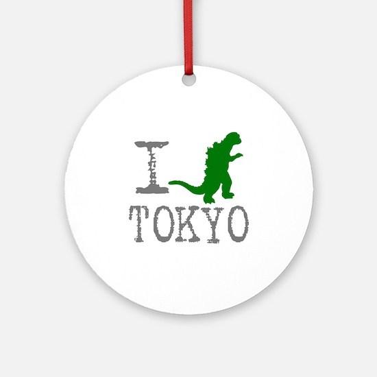 I Godzilla TOKYO (original) Round Ornament
