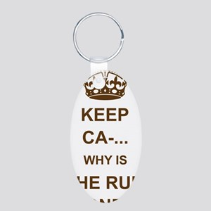 THE RUM IS GONE Aluminum Oval Keychain