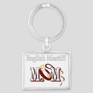 English Mastiff Mom Landscape Keychain