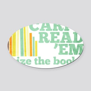 Carpe ReadEm Oval Car Magnet