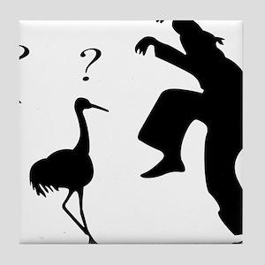 Hilarious Crane and Ninja Tile Coaster