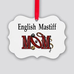 English Mastiff Mom Picture Ornament