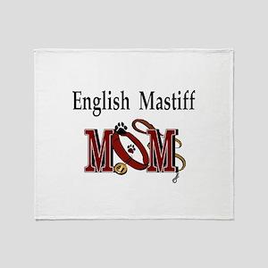 English Mastiff Mom Throw Blanket