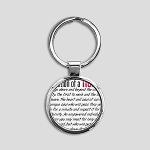 Definition of a nurse Round Keychain