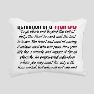 Definition of a nurse Rectangular Canvas Pillow