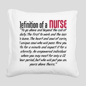 Definition of a nurse Square Canvas Pillow