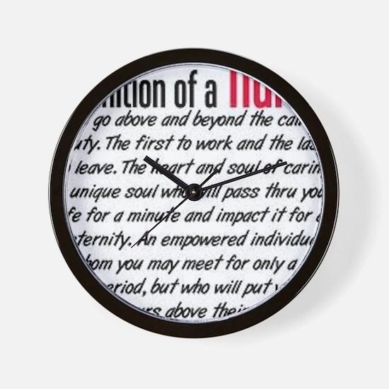 Definition of a nurse Wall Clock