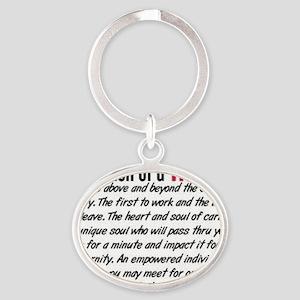 Definition of a nurse Oval Keychain