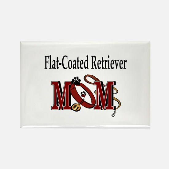 Flat-Coated Retriever Mom Rectangle Magnet