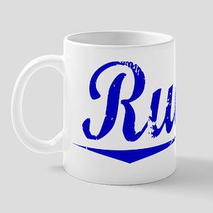 Rueda, Blue, Aged Mug