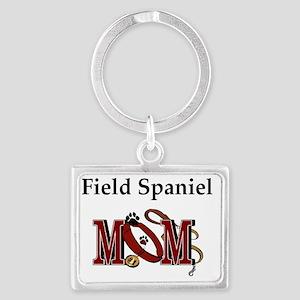 Field Spaniel Mom Landscape Keychain