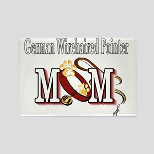 German Wirehaired Pointer Mom Rectangle Magnet