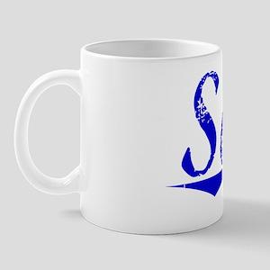 Saba, Blue, Aged Mug