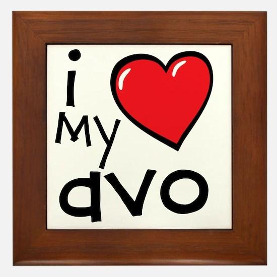 I Love My Avo Framed Tile
