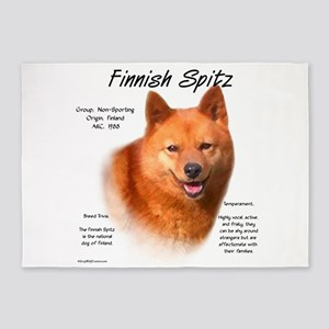 Finnish Spitz 5'x7'Area Rug