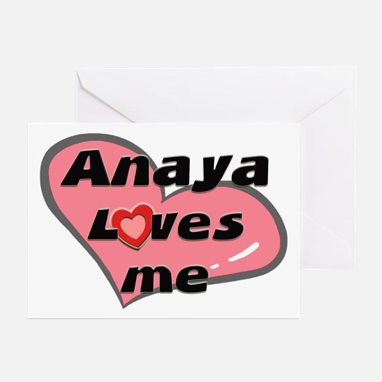anaya loves me  Greeting Cards (Pk of 10)