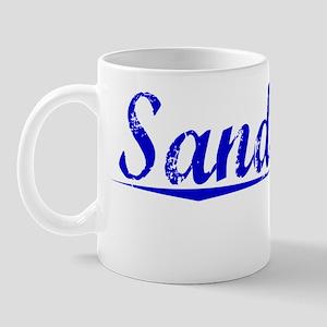 Sandusky, Blue, Aged Mug