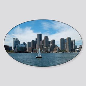 Sailing in Boston Sticker (Oval)