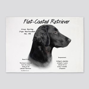 Flat-Coat Retriever 5'x7'Area Rug