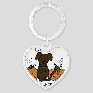 Cute As A Pumpkin Heart Keychain