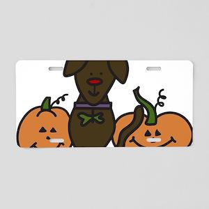 Halloween Dog Aluminum License Plate