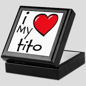 I Love My Tito Keepsake Box