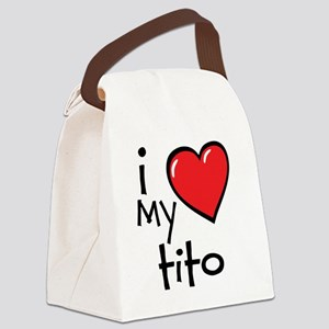 I Love My Tito Canvas Lunch Bag