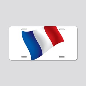 French Flag Aluminum License Plate