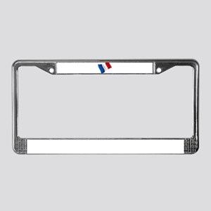 French Flag License Plate Frame