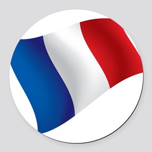 French Flag Round Car Magnet