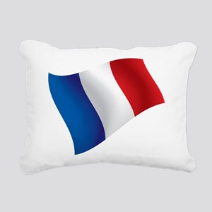 French Flag Rectangular Canvas Pillow