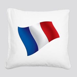 French Flag Square Canvas Pillow