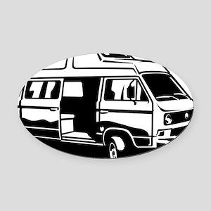 Camper Van 3.1 Oval Car Magnet