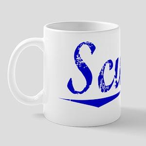 Scurry, Blue, Aged Mug