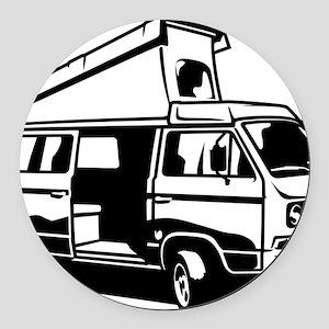 Camper Van 3.2 Round Car Magnet