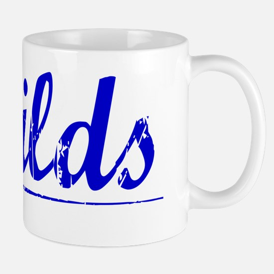 Sheilds, Blue, Aged Mug