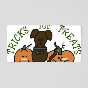 Tricks Or Treats Aluminum License Plate