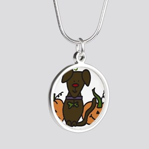 The Great Pumpkin Silver Round Necklace