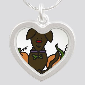 The Great Pumpkin Silver Heart Necklace