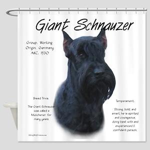 Giant Schnauzer Shower Curtain