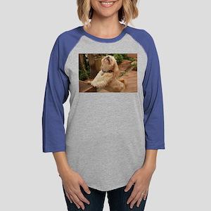 blond lhasa stretching on benc Long Sleeve T-Shirt