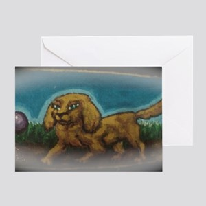 Chase the Dog Greeting Card