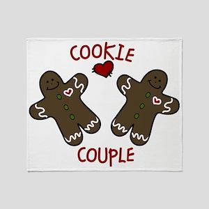 Cookie Couple Throw Blanket